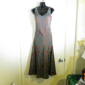 ISAAC MIZRAHI Vintage Princess Cut Brocade Dress